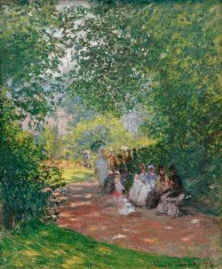 """Claude Monet """"Im Park Monceau"""" 54 x 65 cm"""