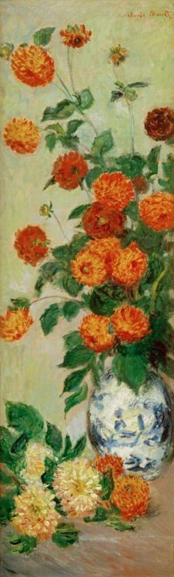 """Claude Monet """"Dahlien"""" 37 x 128 cm"""