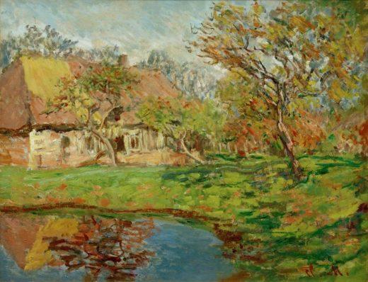 """Claude Monet """"Strohhaus in der Normandie"""" 81 x 65 cm 1"""