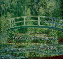 """Claude Monet """"Der Seerosenteich mit der japanischen Brücke"""" 89 x 90 cm"""