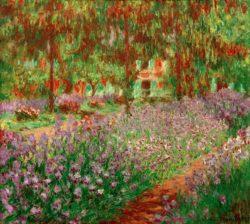 "Claude Monet ""Der Garten"" 92 x 81 cm"