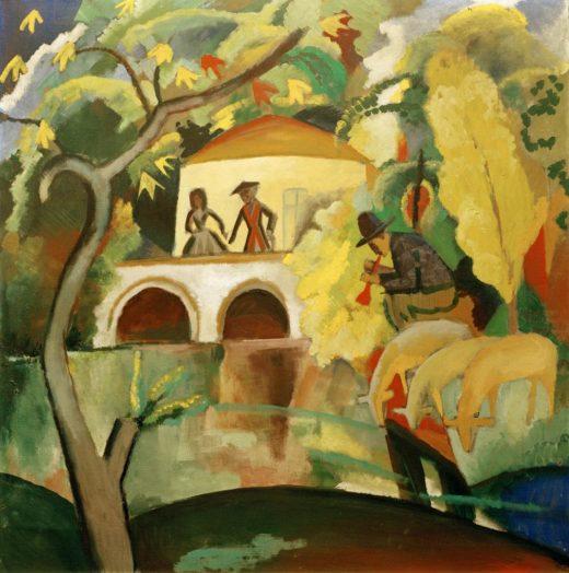 "August Macke ""Rokoko"" 89 x 89 cm 1"