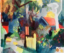 """August Macke """"Landschaft mit hellem Baum"""" 26 x 21 cm"""