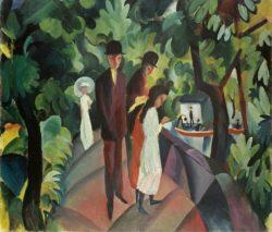 """August Macke """"Spaziergang auf der Brücke"""" 100 x 86 cm"""