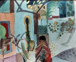 """August Macke """"Mädchen mit Pferd und Esel"""" 27 x 21 cm"""