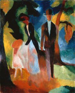 """August Macke """"Leute am blauen See"""" 49 x 60 cm"""