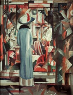 "August Macke ""Großes helles Schaufenster"" 83 x 107 cm"