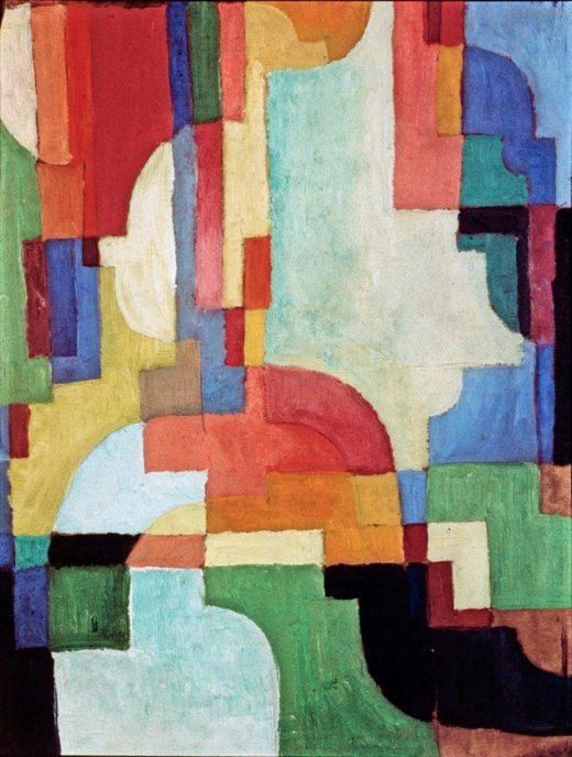 "August Macke ""Farbige Formen I"" 39 x 54 cm 1"