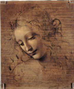 "Leonardo da Vinci ""Frauenkopf"" 21 x 28 cm"