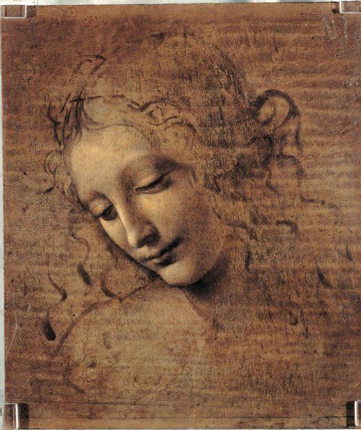 "Leonardo da Vinci ""Frauenkopf"" 21 x 28 cm 1"