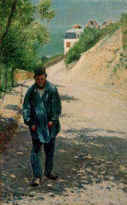 """Claude Monet """"Pere Magloire auf der Straße zwischen Saint-Clair und etreta"""" 100 x 128 cm"""