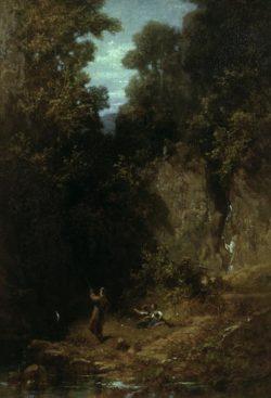 "Carl Spitzweg ""Der Angler"" 25 x 18 cm"