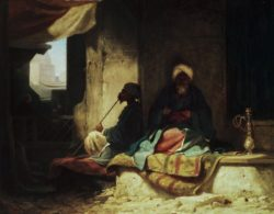 """Carl Spitzweg """"Im türkischen Bazar"""" 24 x 30 cm"""