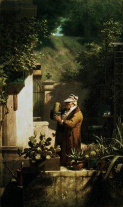"""Carl Spitzweg """"Der Kaktusfreund"""" 54 x 32 cm"""
