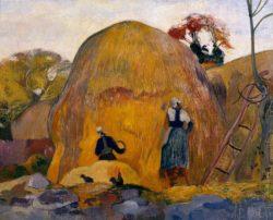 "Paul Gauguin ""Die gelben Heuschober oder Goldene Ernte""  93 x 74 cm"