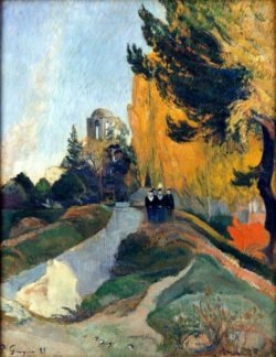"Paul Gauguin ""Die drei Grazien am Tempel der Venus""  73 x 92 cm"