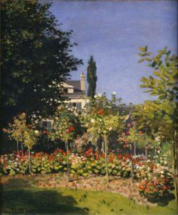 "Claude Monet ""Blühender Garten"" 54 x 65 cm"