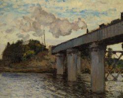 """Claude Monet """"Die Eisenbahnbrücke von Argenteuil"""" 72 x 55 cm"""