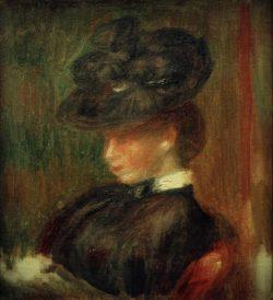 """Auguste Renoir """"Dame mit Hut"""" 14 x 16 cm"""