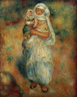 """Auguste Renoir """"Algerierin mit Kind"""" 32 x 41 cm"""