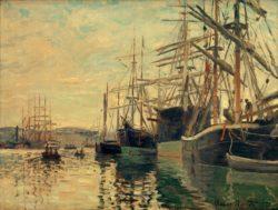 """Claude Monet """"Der Hafen von Rouen"""" 81 x 60 cm"""