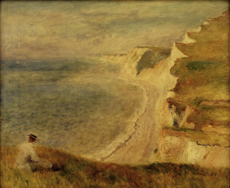 """Auguste Renoir """"Steilküste bei Pourville"""" 65 x 54 cm 1"""