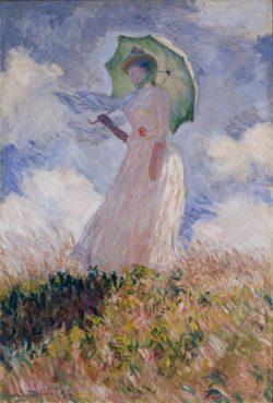 """Claude Monet """"Frau mit Sonnenschirm"""" 88 x 131 cm"""