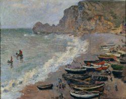 """Claude Monet """"Etretat la plage e la porte d´Amont"""" 81 x 66 cm"""