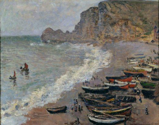 """Claude Monet """"Etretat la plage e la porte d´Amont"""" 81 x 66 cm 1"""