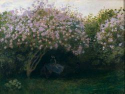 """Claude Monet """"Ruhepause unter dem Fliederbusch"""" 65 x 50 cm"""