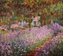 "Claude Monet ""Irisbeet in Monets Garten"" 92 x 81 cm"