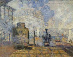 "Claude Monet ""Der Bahnhof Saint-Lazare"" 104 x 75 cm"
