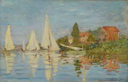 "Claude Monet ""Regatta in Argenteuil"" 75 x 48 cm"