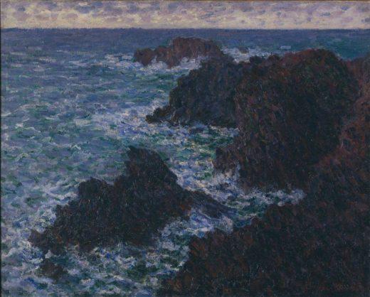 """Claude Monet """"Die Felsen von Belle-Ile  die wilde Küste"""" 81 x 65 cm 1"""
