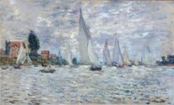 "Claude Monet ""Segelboote  Regatta in Argenteuil"" 100 x 60 cm"