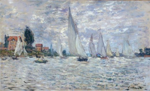 "Claude Monet ""Segelboote  Regatta in Argenteuil"" 100 x 60 cm 1"