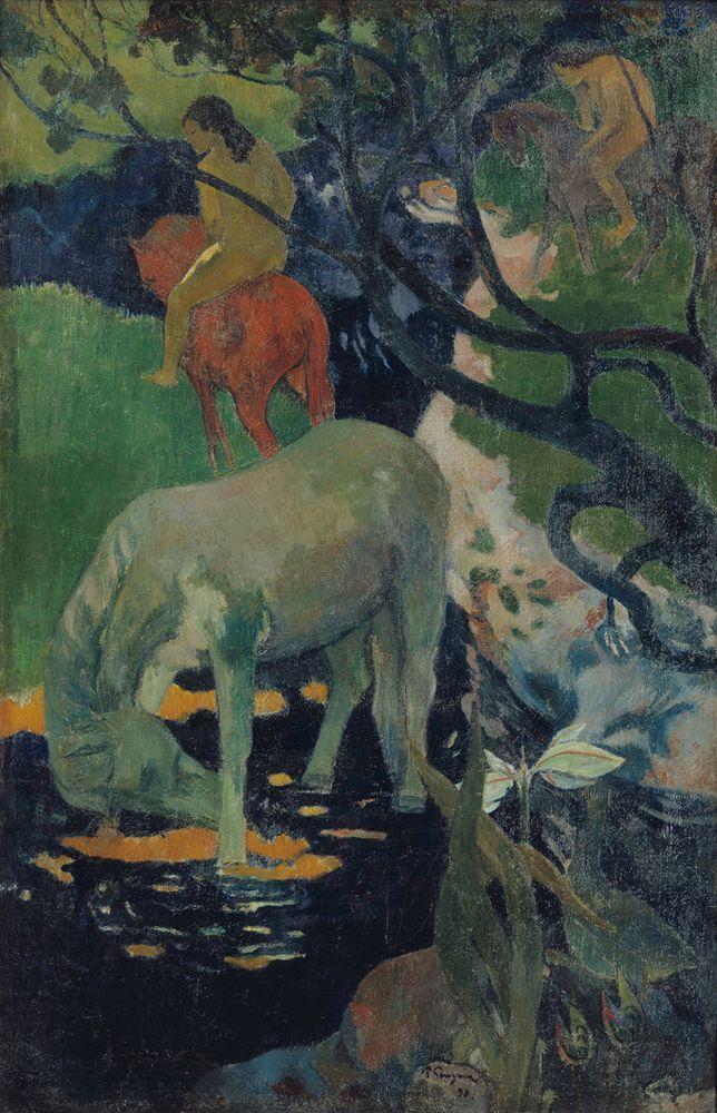Glasbild - Kunstdruck Paul Gauguin - Zwei Frauen von