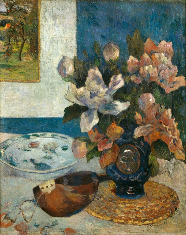 """Paul Gauguin """"Stillleben mit Mandoline und Blumen""""  51 x 61 cm"""