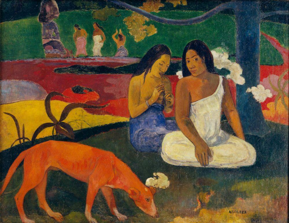 """Paul Gauguin """"Freude (Arearea)""""  94 x 75 cm"""