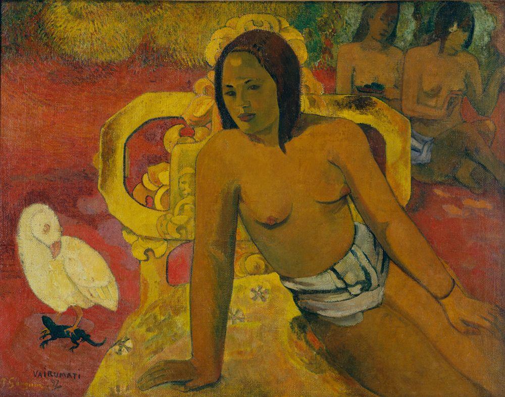 "Paul Gauguin ""Vairumati (Die irdische Braut des Gottes Oro)""  94 x 73 cm"