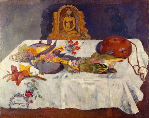 """Paul Gauguin """"Stilleben mit exotischen Vögeln""""  76 x 62 cm 1"""