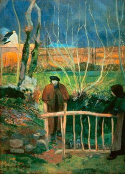 "Paul Gauguin ""Bonjour M. Gauguin""  55 x 75 cm"
