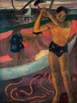 """Paul Gauguin """"Der Holzhacker aus Pia (Der Mann mit der Axt)""""  70 x 92 cm"""