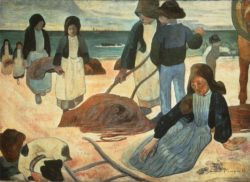 """Paul Gauguin """"Bretonische Tangsammler""""  123 x 88 cm"""