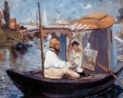 """Claude Monet """"Die Barke"""" 105 x 82 cm"""