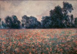 "Claude Monet ""Mohnblumen bei Giverny"" 92 x 65 cm"