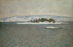 """Claude Monet """"Fjord von Christiania"""" 100 x 65 cm"""