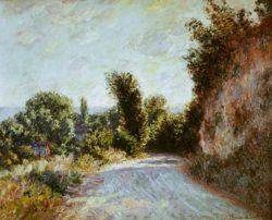 "Claude Monet ""Straße bei Giverny"" 81 x 65 cm"