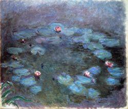 "Claude Monet ""Nympheas -Seerosen"" 150 x 74 cm"
