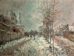 "Claude Monet ""Der schneebedeckte Boulevard de Pontoise in Argenteuil"" 81 x 130 cm"